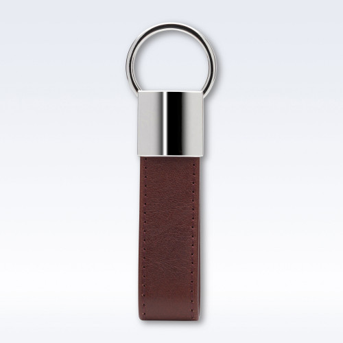 Chestnut Richmond Leather Looped Key Fob