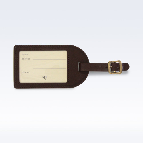 Chestnut Richmond Leather Luggage Tag