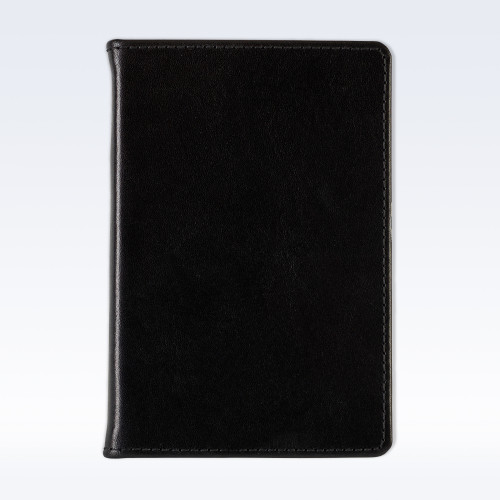 Black Richmond Leather A6 Pocket Notebook