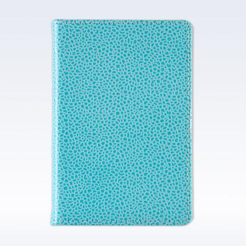 Aqua Caviar Leather A6 Pocket Notebook