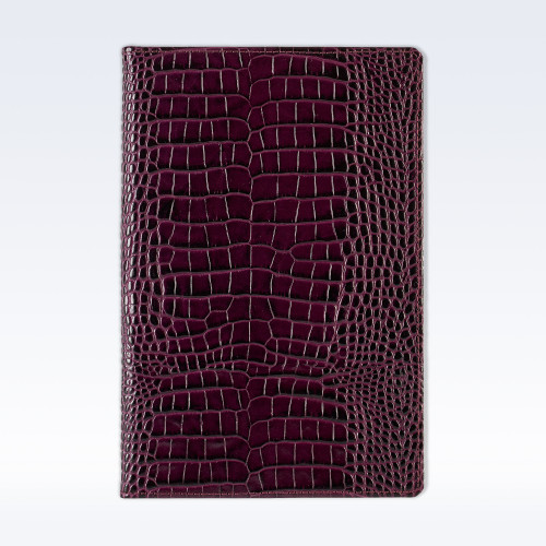 Purple Croc Leather A5 Notebook