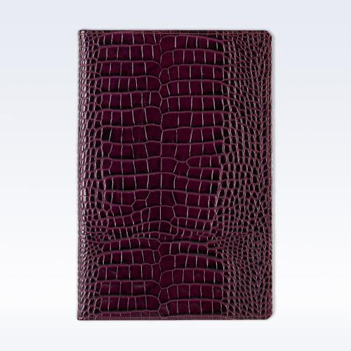 Purple Croc Leather A5 Notebook