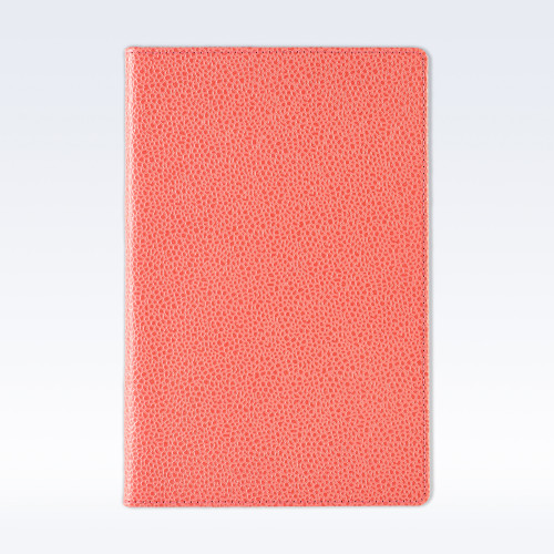 Coral Caviar Leather A5 Notebook