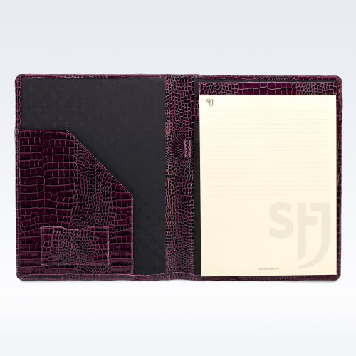 Purple Croc Leather Executive A4 Folder