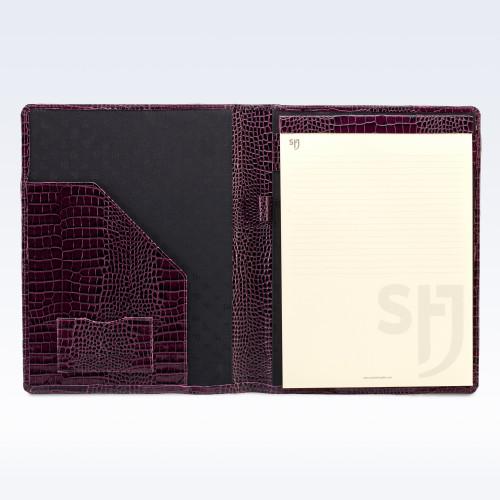 Purple Croc Leather Executive A4 Folder