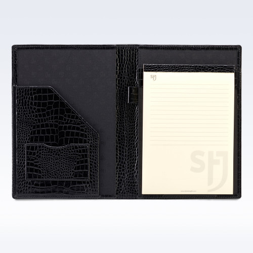 Black Croc Leather Executive A5 Folder