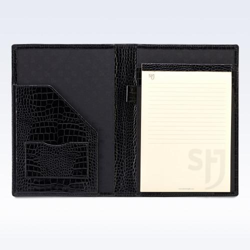 Black Croc Leather Executive A5 Folder