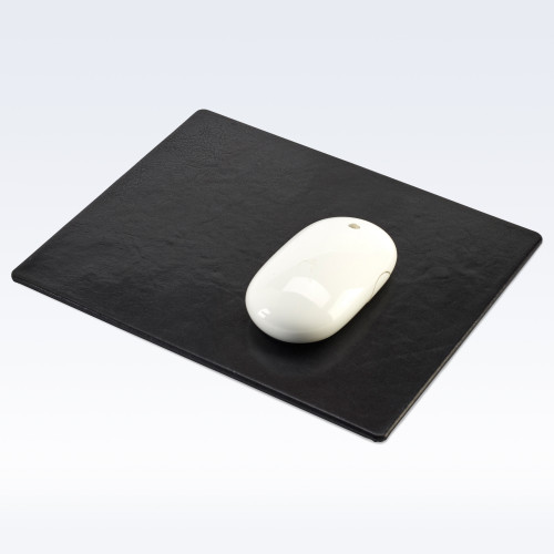 Black Richmond Leather Mouse Mat