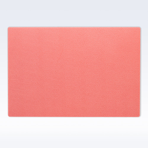 Coral Caviar Leather Large Desk Mat