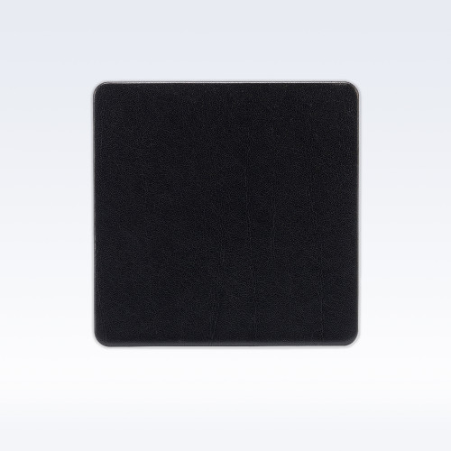 Black Richmond Leather Square Coaster