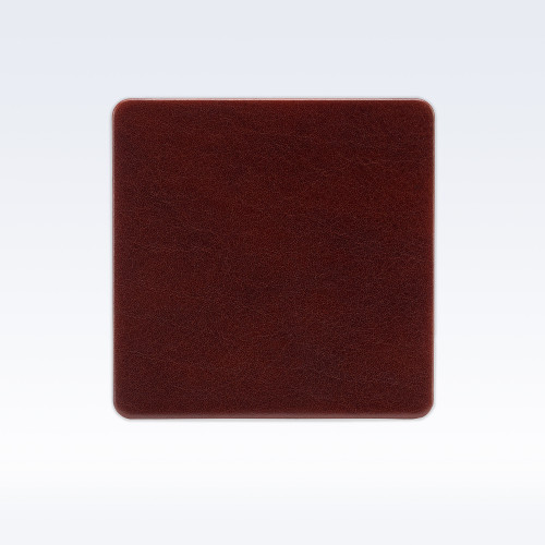 Chestnut Richmond Leather Square Coaster