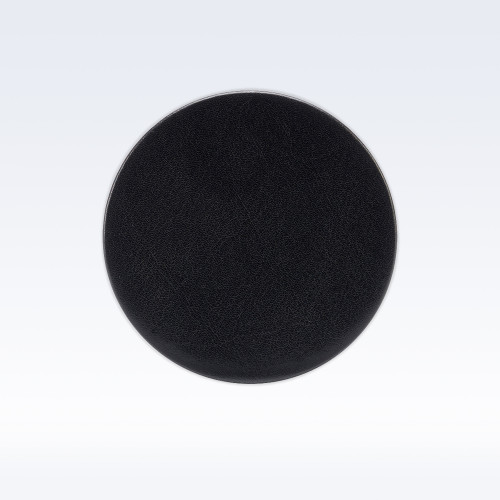 Black Richmond Leather Round Coaster