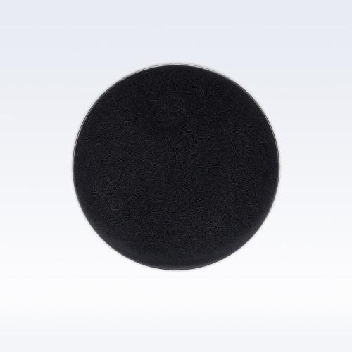 Black Richmond Leather Round Coaster