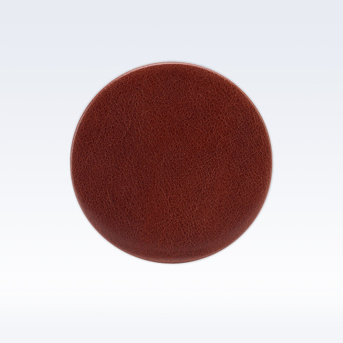 Chestnut Richmond Leather Round Coaster