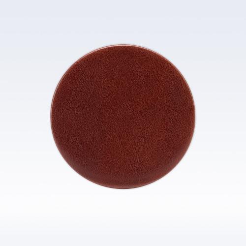 Chestnut Richmond Leather Round Coaster