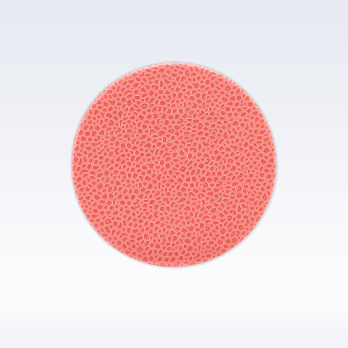Coral Caviar Leather Round Coaster