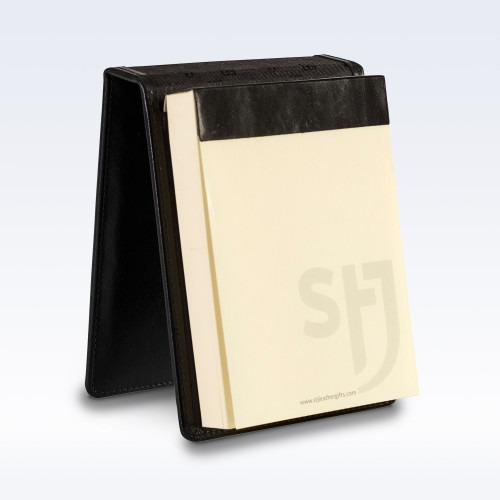 Black Richmond Leather Desk Jotter Note Pad