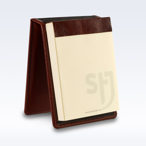 Chestnut Richmond Leather Desk Jotter Note Pad