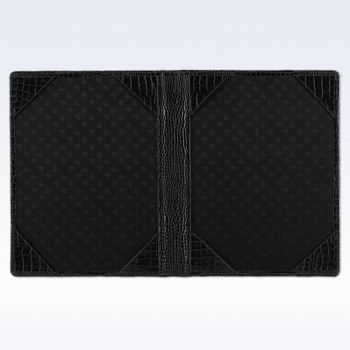 Black Croc Leather Certificate Holder or Photograph Frame