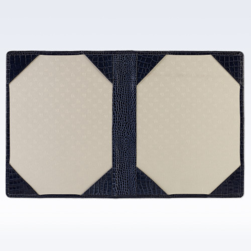 Navy Croc Leather Certificate Holder or Photograph Frame