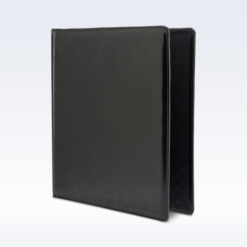 Black Richmond Leather Storage Ring Binder