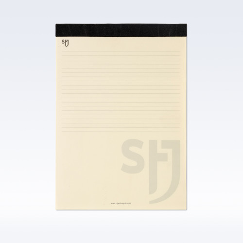 Black Richmond Leather Trimmed a4 Refill Pad