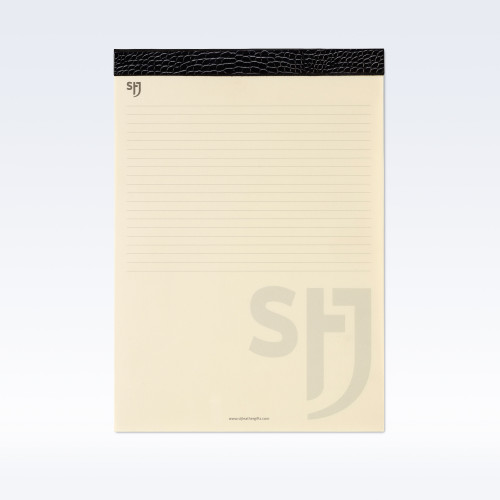 Black Croc Leather Trimmed a4 Refill Pad