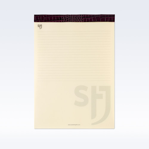 Purple Croc Leather Trimmed a4 Refill Pad