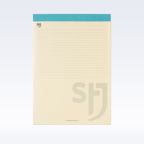 Aqua Caviar Leather Trimmed a4 Refill Pad