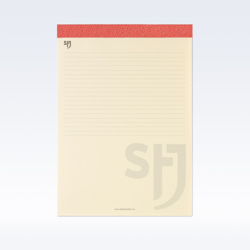 Coral Caviar Leather Trimmed a4 Refill Pad