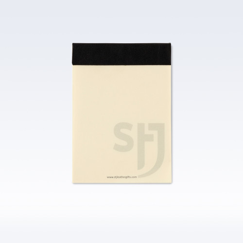 Black Richmond Leather Trimmed Desk Jotter Refill Pad