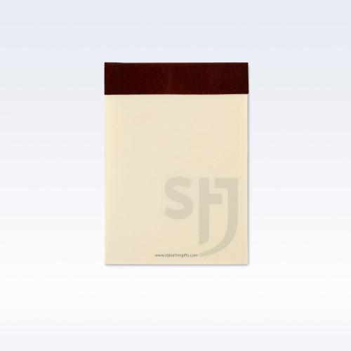 Chestnut Richmond Leather Trimmed Desk Jotter Refill Pad