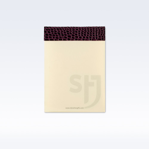 Purple Croc Leather Trimmed Desk Jotter Refill Pad
