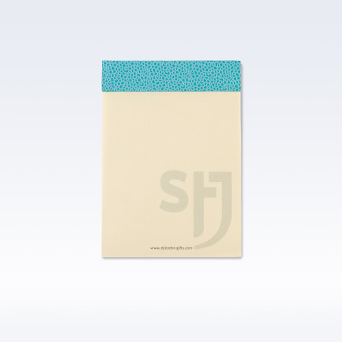 Aqua Caviar Leather Trimmed Desk Jotter Refill Pad