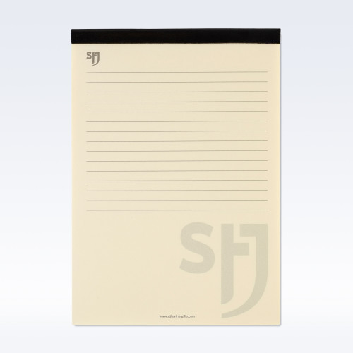 Black Richmond Leather Trimmed a5 Refill Pad