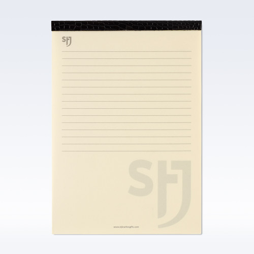 Black Croc Leather Trimmed a5 Refill Pad