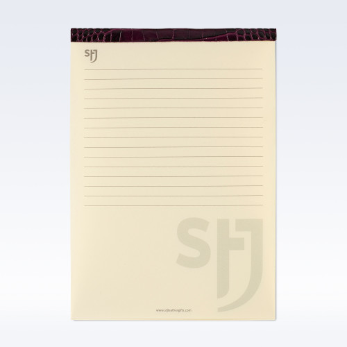 Purple Croc Leather Trimmed a5 Refill Pad