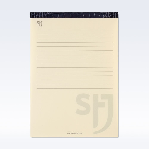 Navy Croc Leather Trimmed a5 Refill Pad