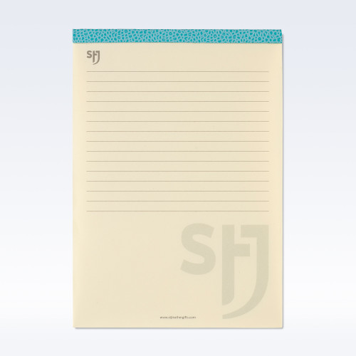 Aqua Caviar Leather Trimmed a5 Refill Pad
