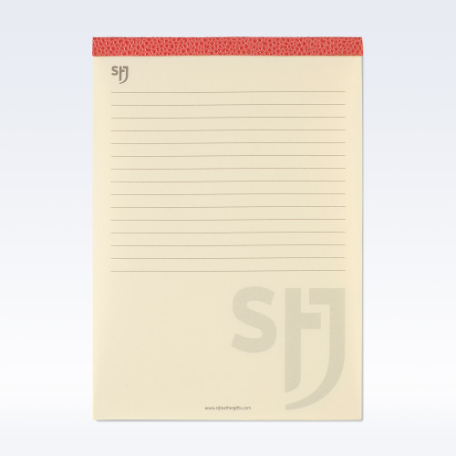 Coral Caviar Leather Trimmed a5 Refill Pad