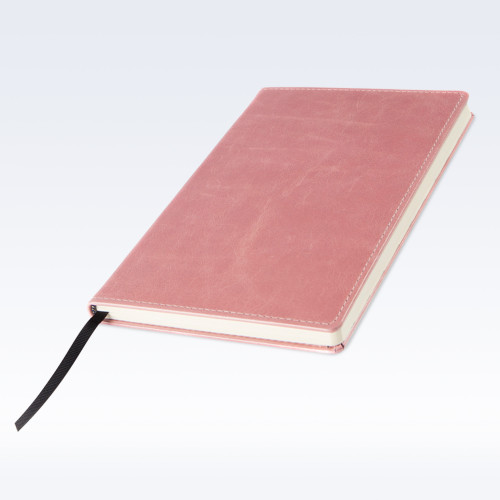 Shell Pink Kensington Leather A5 Notebook
