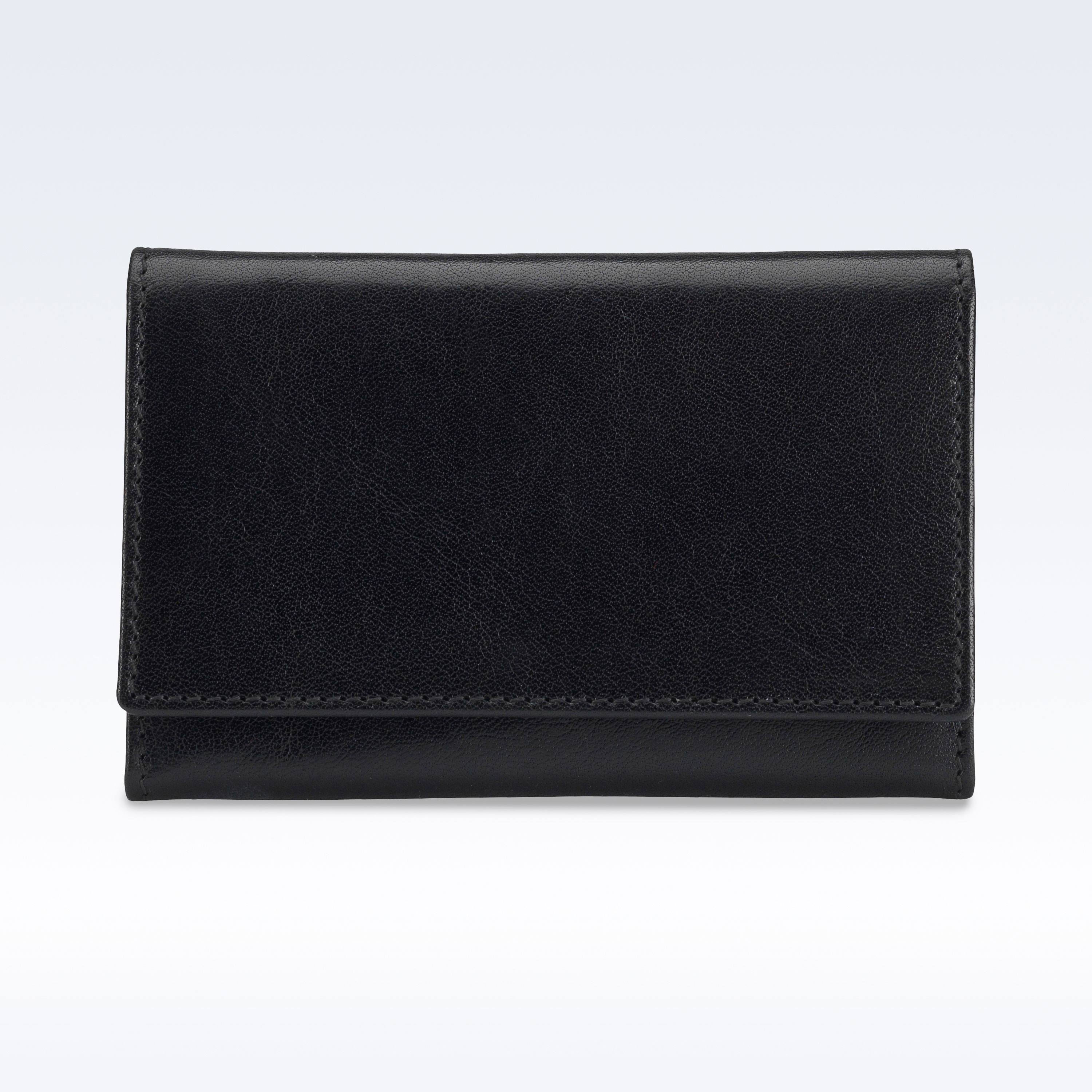 Black richmond leather business card holder for Black leather business card holder